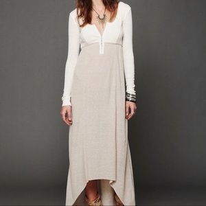 """Free People FP Beach """"Got You Hooked"""" thermal maxi"""